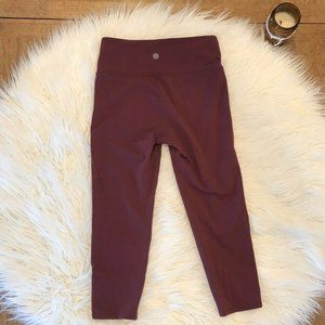 Athleta Cropped Leggings S Maroon